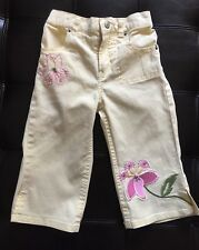Girls Squeeze New York Capri Pants Size 5 Flower Embroidery EUC!