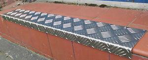 "Door STEP TREAD PLATE  Angle 6"" x 2"" Anti Slip Aluminium CHEQUER PLATE + SCREWS"