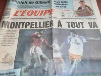 L'EQUIPE MONTPELLIER / MANCHESTER  ANNÉE 1991 (ref A1)