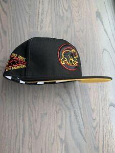 Exclusive New Era Chicago Cubs MLB club hat Size 7 1/8 Yellow Gold UV Cobra Kai