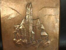 Ancien Plaque Décorative en Cuivre. Alpirsbach en Allemagne, Handarbeit. Signée