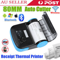 80mm Wireless Bluetooth Thermal Receipt Printer ESC POS For Windows Android iOS