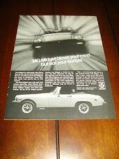1979 MG MIDGET ***ORIGINAL VINTAGE AD / ADVERTISEMENT***