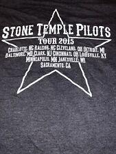 Stone Temple Pilots Men's Size M 2015 Tour Concert Graphic Shirt Scott Weiland