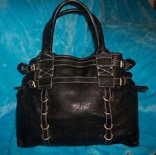 CYNTHIA ROWLEY Black Leather X Large HOBO Shoulder Bag