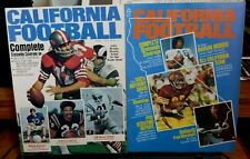 CALIFORNIA FOOTBALL(2) MAGAZINE LOT 1972 & 1973 EX
