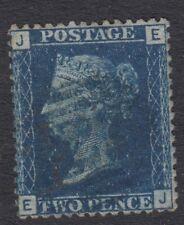 GB LINE ENGRAVED :1858 2d deep blue plate 15 E-J  SG47  BLUE numeral cancel