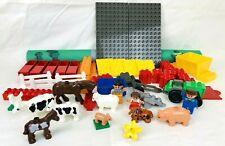 LEGO 3618 DUPLO Family Farm Minifigures Barnyard Animals Tractor Incomplete Set