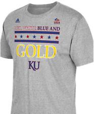 adidas Kansas Team USA World Champions Limited Gold shirt basketball KU jayhawks