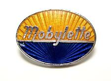Moylette lapel pin motorcycle scooter hat badge gold blue chrome italian