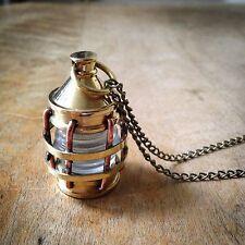 Pendant Charm Necklace Shiny Brass Bronze Hot Sale - Vintage Style Lantern