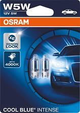 Osram Cool Blue Intense W5W T10 Halogen 12V Sidelight Parking light Car Bulbs