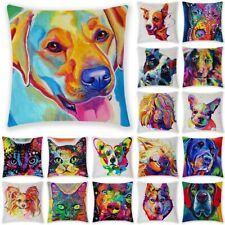 18 Inch Colorful Animal Dog Puppy Pillowcase Home Deco Pillow Case Cushion Cove