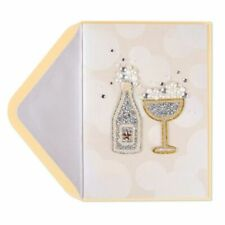 PAPYRUS Greeting Card Happy Anniversary / Love / All Occasions -Dazzling Champag