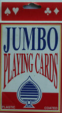Jumbo Playing Cards Plastic Coated Premium Deck Party Favors Card Game Fun Gag