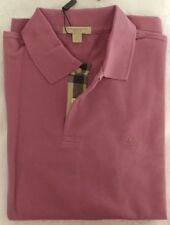 Burberry Oxford Piqué Long Sleeve Polo Shirt NEW