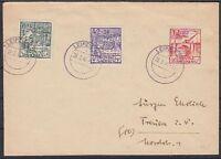SBZ Mi Nr. 87 III, 88, 89 MiF Sammler Brief Leipzig - Treuen 23.03.1946