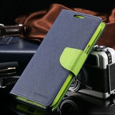 Genuine MERCURY Goospery Blue & Green Flip Case Wallet Cover For Galaxy Note 8