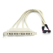 GN- USB2.0 4Port to Motherboard Header 9Pin Bracket External Extension Cable Cor