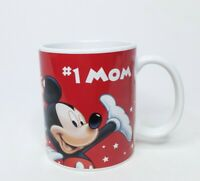 Disney #1 Mom Coffee Mug Jerry Leigh Red Goofy Pluto Donald Mickey Minnie