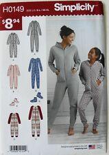 Simplicity H0149 Misses Girls Jumpsuit Booties Sewing Pattern Sz XS-M-XL 7-16