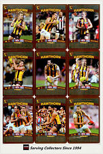 2010 AFL Teamcoach Trading Card Prize Card Team Set Hawthorn (12)