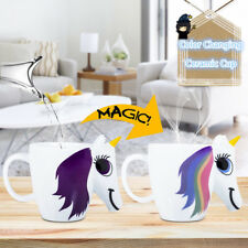 3D Color Changing Cartoon Unicorn Ceramic Mug Magical Heat Sensitive Horse Cups