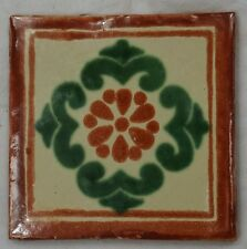 1x Hand-Made Ceramic Mexican Wall Tile Hand Painted Mexico Terracotta Tiles R32
