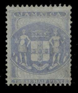 JAMAICA QV SG F4, ½d blue/blue, UNUSED. Cat £65.