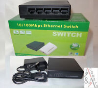 Switch 5 Port Fast Ethernet 10/100 Mbit Netzwerk Mini Hub LAN DSL inkl. Netzteil