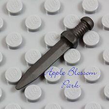 NEW Lego Minifig Dark Gray ROMAN SWORD - Short Gladius Castle Minifigure Weapon