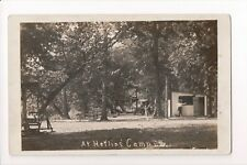 IN, Edinburg - Heflins Camp, man (owner?) and girl - RPPC - A05180