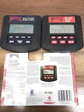 Bicycle Blackjack And Solitaire Hand Held Electronic Game