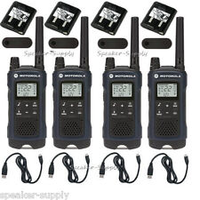 Motorola Talkabout T460 Walkie Talkie 4 Pack Set 35 Mile Two Way Radio w Vibrate