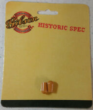 Gibson Les Paul Amber Toggle Switch Cap Tip Set Knobs Historic Reissue R7 R8 R9