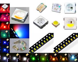 SMD LED 0402 0603 0805 1206 3528 5050 Superhelle LEDs verschiedene Farben
