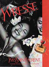 Publicité Advertising 1996  Parfum  YVRESSE de YVES SAINT LAURENT