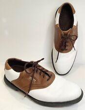 New listing FootJoy Mens Superlites, Brown/White Oxford Golf Shoes 58049 Sz 10.5