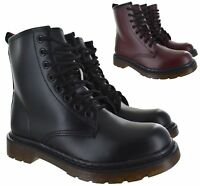 LADIES WOMENS CHUNKLY BLOCK LOW FLAT ANKLE DOC COMBAT LACE UP WORKER BOOTS SIZE