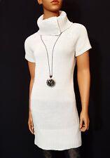 Pulloverkleid Minikleid Strickpullover Business Pullover Strick S 36 38 beige K2