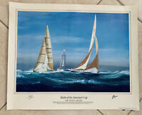 """Yachts Of The American Cup """"The Twelve Meters"""" by Tim Thompson Special Ed Print"""