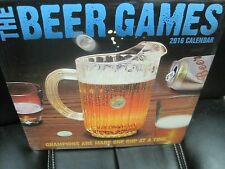 THE BEER GAMES 2016 WALL CALENDAR 16 MONTH 12 PHOTOS NEW SHRINK WRAPPED