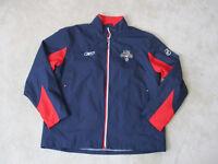 Reebok Florida Panthers Jacket Adult Large Blue Red NHL Hockey Coat Mens 90s