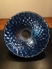 antique mercury glass shade BLUE x ray shade O C White era industrial lamp