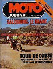 MOTO JOURNAL  314 KAWASAKI 125 KH YAMAHA DTMX RS DX 50 RD ; Tour de Corse 1977
