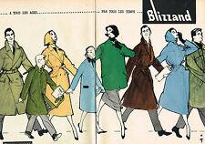 PUBLICITE ADVERTISING  1957 BLIZZAND BOUSSAC par RENE GRUAU  ( 2 pages)