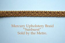 "Old Gold Upholstery Braid ""Mercury Sunburst"" 15mm wide (sold by the Metre)"