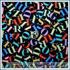BonEful FABRIC Cotton Quilt Black Red Blue Baby Calico Alphabet Flower Dot SCRAP