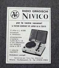 H005 - Advertising Pubblicità - 1963 - NIVICO RADIO GIRADISCHI
