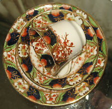 Antique : Victorian china trio Cup / Saucer / Plate - rich gilding gold leaf 4